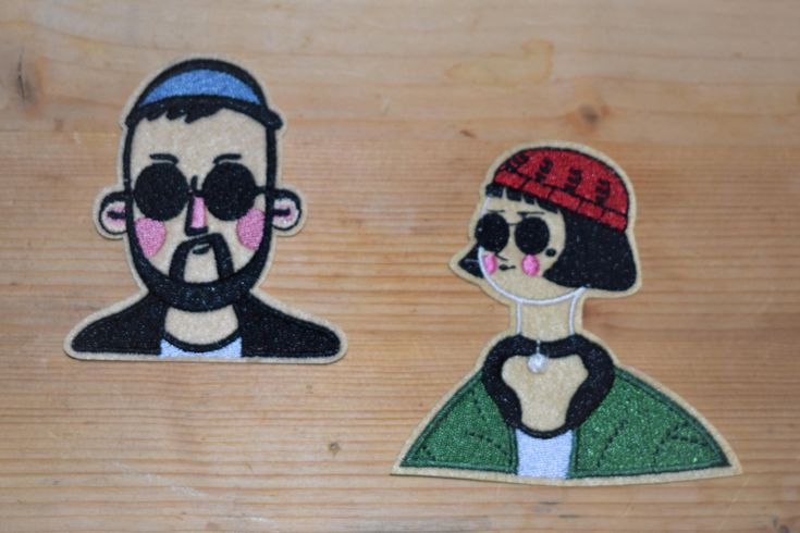 Excited to share the latest addition to my #etsy shop: Leo and matilda- Iron stick Embroidered patch/applique For T-Shirts,Hats,Jackets,Pants, Vintage Collection supreme quality. http://etsy.me/2EsUPma #supplies #birthday #easter #hatmakinghaircrafts #embroideredpatch