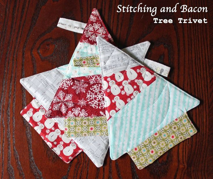 Stitching and Bacon: Tree Trivet Tutorial [Christmas in July Sewing Challenge]