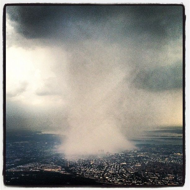 Photographer Dhani Jones took this photograph while flying around the storm and