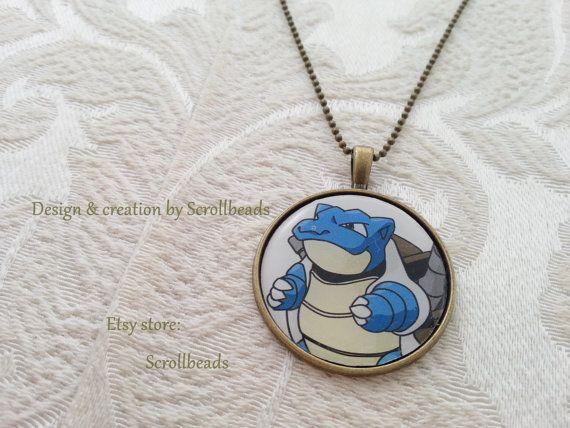 Pokémon Blastoise genuine preserved '90s fragment by Scrollbeads (found on Etsy!)