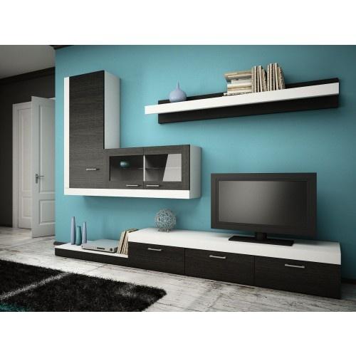 Dedeman biblioteca andy alb stejar cortina mobilier for Mobilier tv
