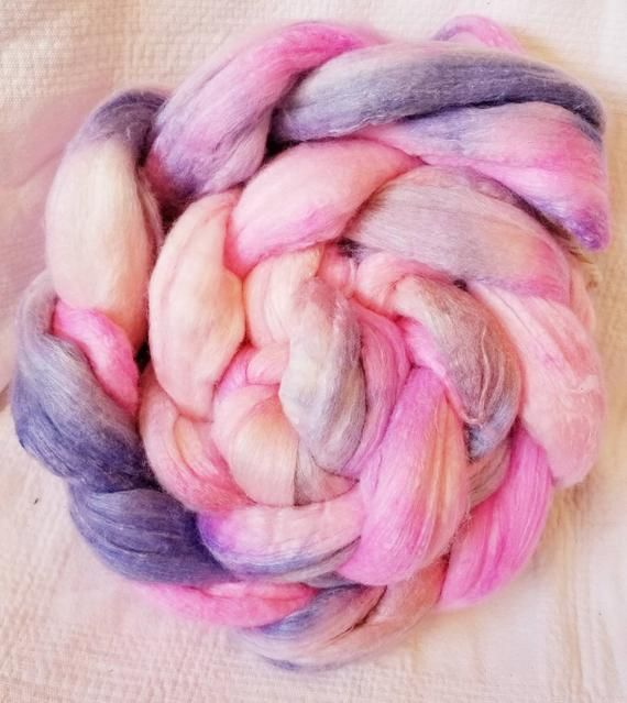 MerinoBambooSilk Hand Dyed Roving En Pointe