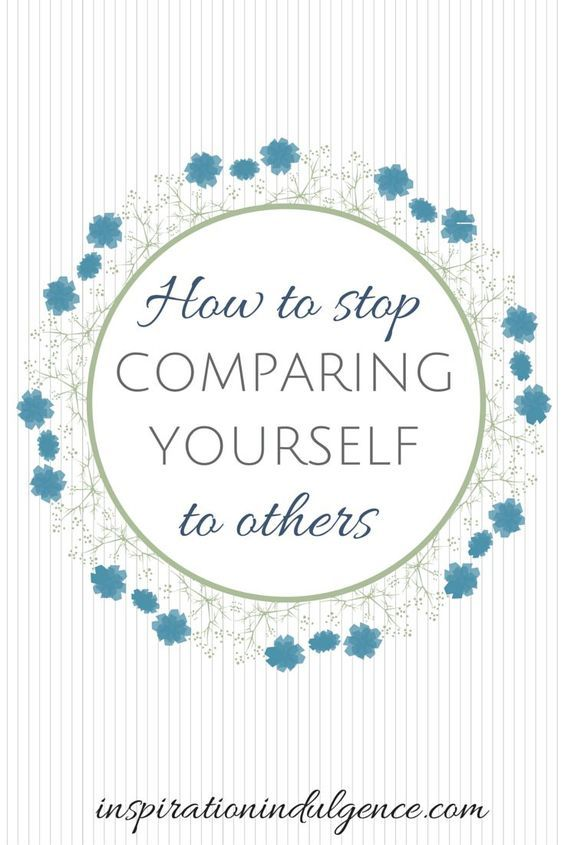 Do you compare yourself to others? If so, read this.