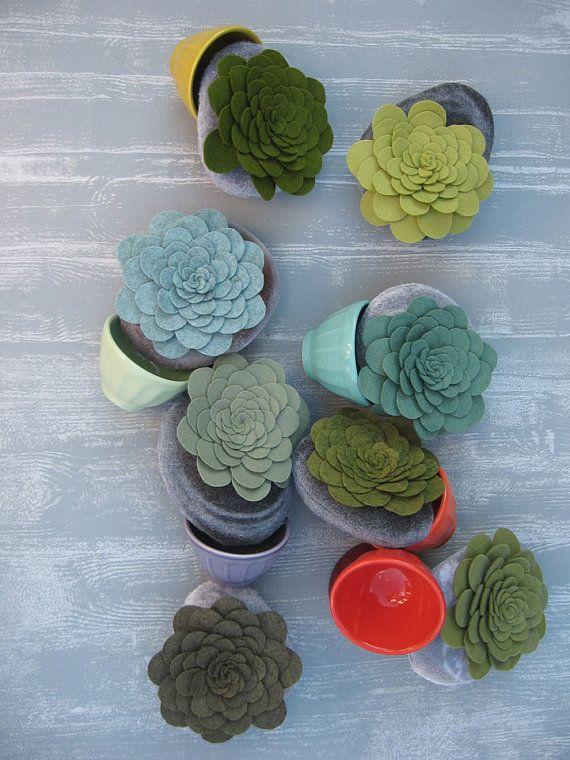 succulent plant serenity faux stone soft sculpture by miasole, $20.00