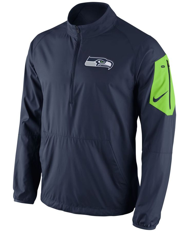 Seattle Seahawks Logo Pullover Hoodie Dark Blue