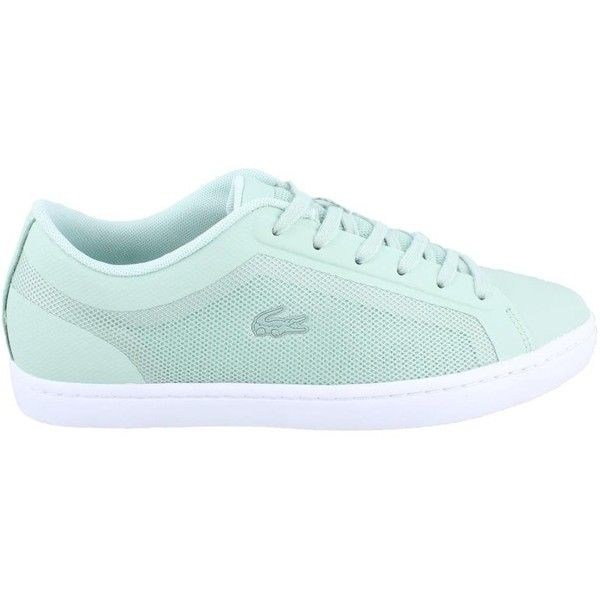 Lacoste Women's Straightset 116 4 Fashion Sneaker ($96) ❤ liked on Polyvore featuring shoes, sneakers, lacoste shoes, lacoste trainers, lacoste footwear, lacoste and lacoste sneakers