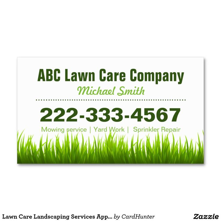 58 best Business Cards Landscaping images on Pinterest Business - lawn care specialist sample resume