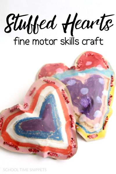 Stuffed Heart Lacing Craft-- a sweet Valentine's Craft for Kids that's great for fine motor skills, too!
