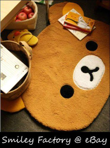 New-35-San-X-Rilakkuma-Relax-Bear-Plush-Mat-Rug-Carpet-for-Living-Room-Bedroom