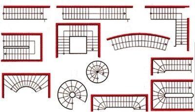 Варианты лестниц, устанавливаемых в загородном доме