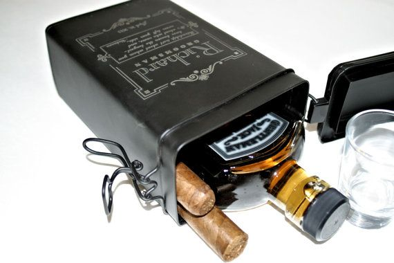Another great one for the guys! Tin Gift Box for Personalized Groomsman Gift Father by ScissorMill, $28.50