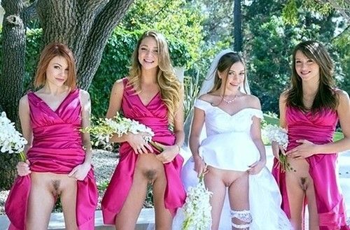 group bridal nude flash