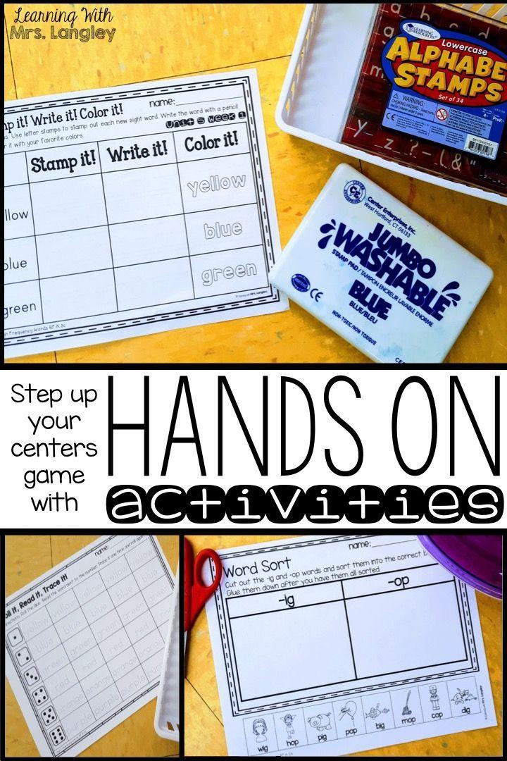 Kindergarten Centers Unit 5 Bundle | Educational Finds and Teaching ...