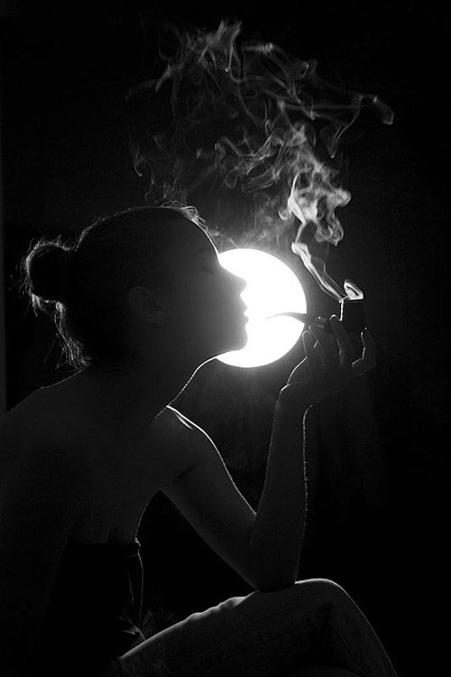 Black and White Photography: smoke on the moon