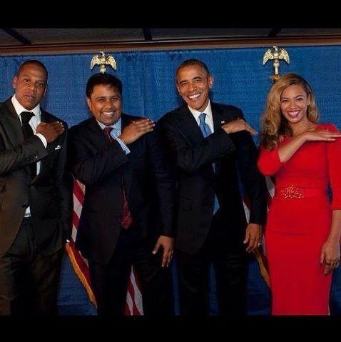 """Get that dirt off ya shoulders."" Beyonce, Obama, Jay-Z"