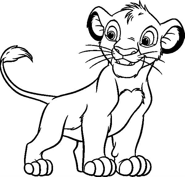 Simba Intrepid Coloring Pages For Kids Printable Lion King