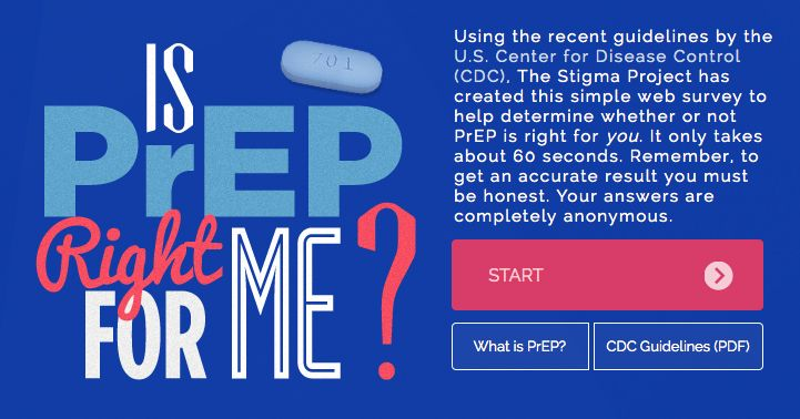 """New Resource: """"Is PrEP Right for Me?"""" - a simple web survey to see if pre-exposure prophylaxis could be perfect for protecting you against HIV."""