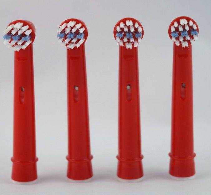 4ピース/ロット歯ブラシヘッド交換EB-10Aオーラルb子供電動交換歯ブラシヘッド