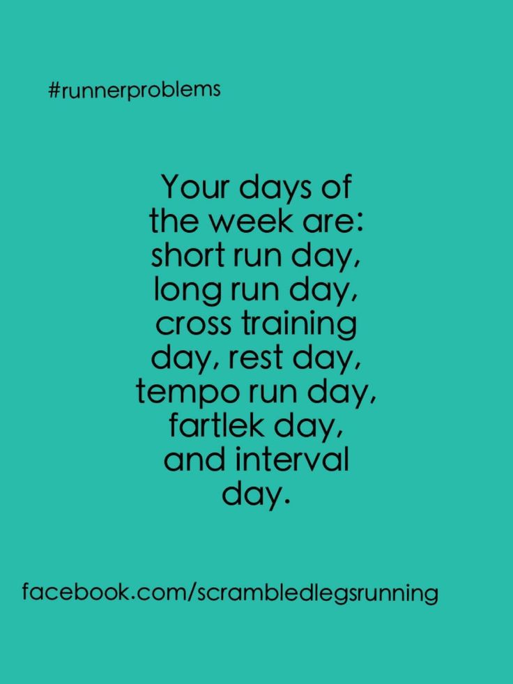 So true!  Haha:) My mom looked at my running schedule some days ago & said the same thing to me with smile ;)