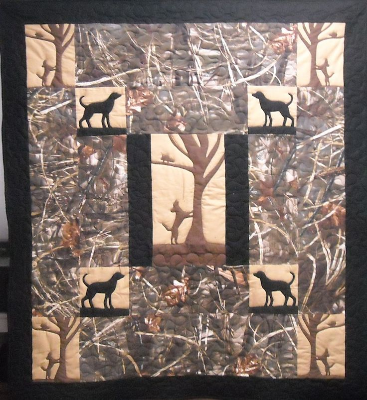 BabyBosQuilt  This quilt reminds me of my Dad, Red Waters, who loved all things coon hunting