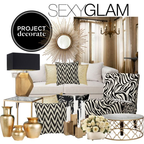 Project Decorate Sexy Glam With Honey Weu0027re Home Living room - black white and gold living room ideas