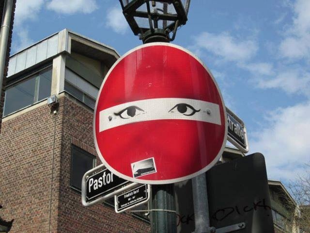 33 best clet abraham images on pinterest street art - Sens interdit panneau ...