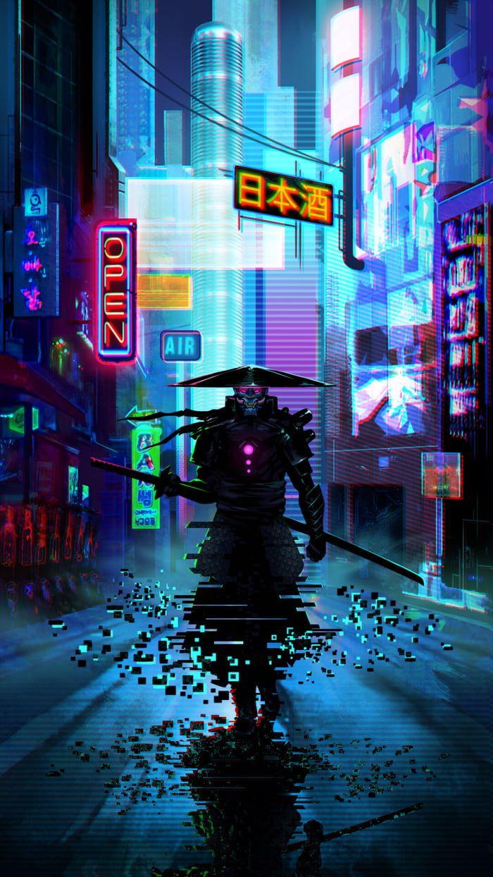 Wallpaper in 2020 Futuristic samurai, Samurai wallpaper