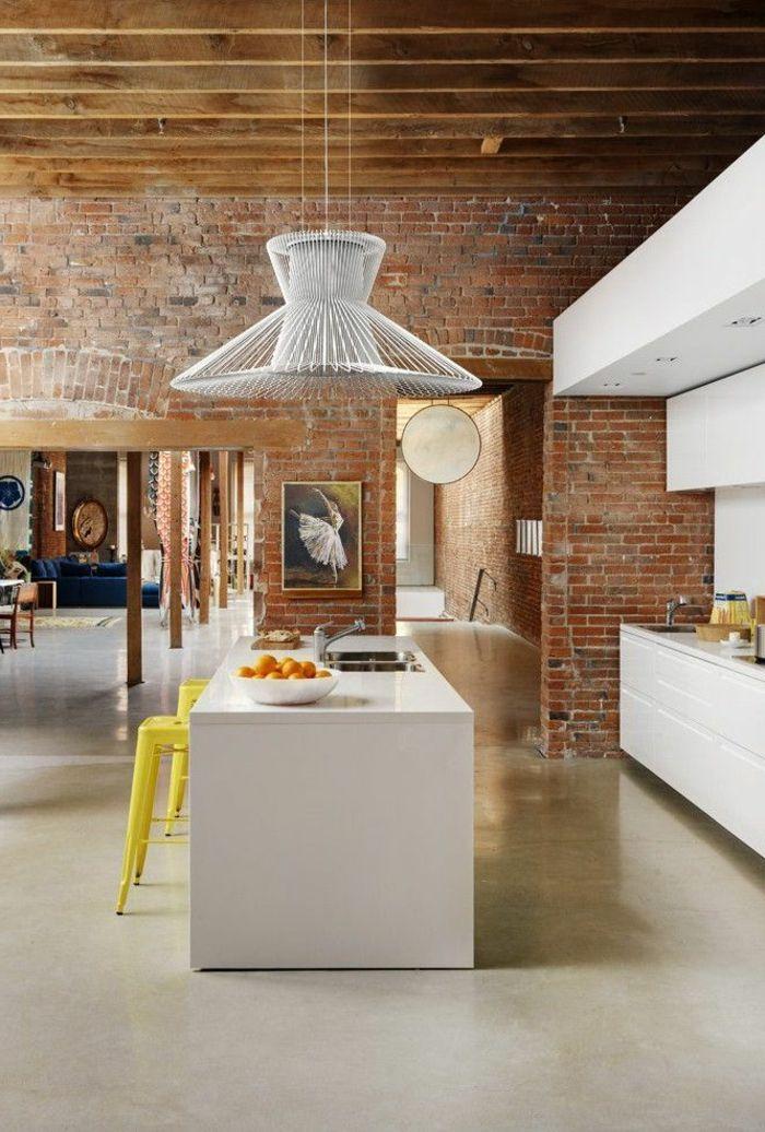 ... de joli aménagement de cuisine ouverte  Cuisine, Design et Interieur