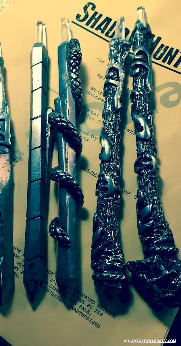 The first look at the #Shadowhunters Steles: Jace's, Alec's, Izzy's, Valentine's