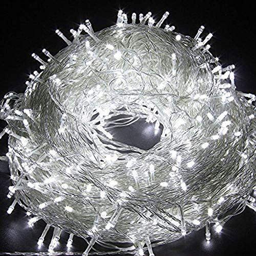 AIZESI 20M 200 LED Guirlande LED Blanche Lampe Arbre Lumineux LED Luminaire Extérieur Lampe Néon pour Chambre d'Enfants, Mariage, Arbre de Noël, Fête du Festival, jardin, Patio (bleu)
