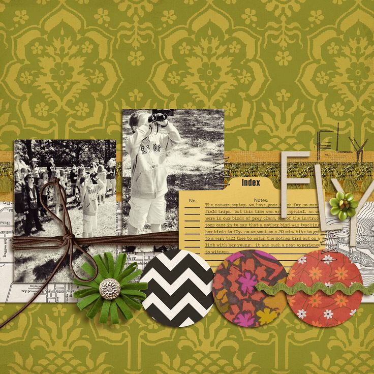 Mix Vintage Looks With Modern Punch on Your Scrapbook Pages | Krista Sahlin | | GetItScrapped.com/blog