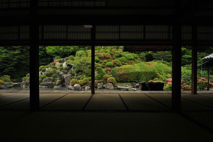 Garden at Chishakuin - 智積院