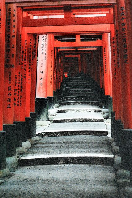 Fushimi Inari (Kyoto, Japan) on film! By far my favorite religious site in the world, I had to tear myself away. This was my first big experiment with shooting with film - I just love how nostalgic it is.