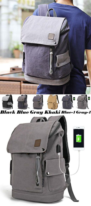 Unique Large College Bag Camping Rucksack USB Interface Large Travel Backpack for big sale! #large #bag #college #student #travel #Backpack