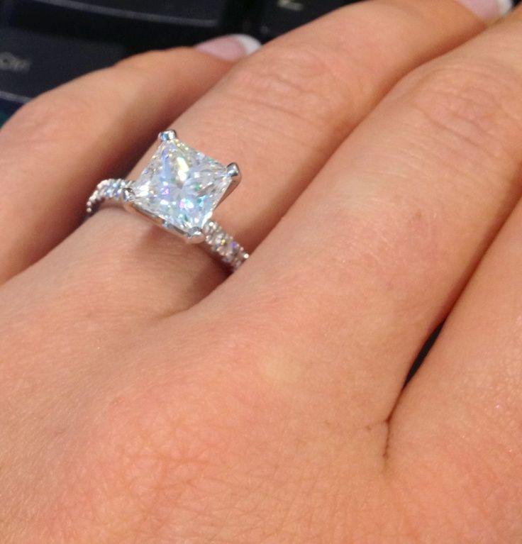 Tacori Princess Cut Diamond Engagement Rings Wallpaper