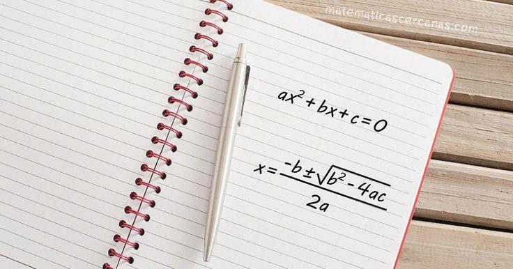 ¿De dónde sale la fórmula para resolver ecuaciones polinómicas de segundo grado? Lo vemos...