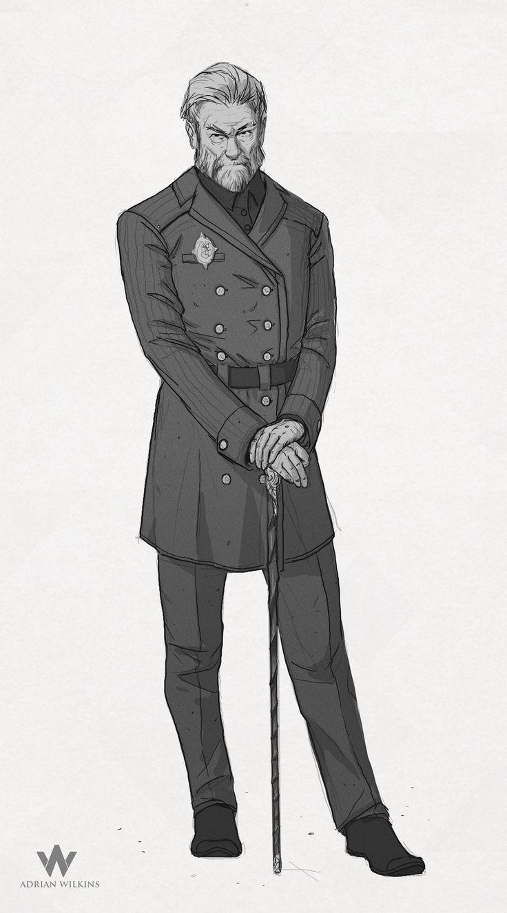 ArtStation - Above and Beyond , Adrian Wilkins  [Mikhail Van Dietrich, Rojya's military doctor]
