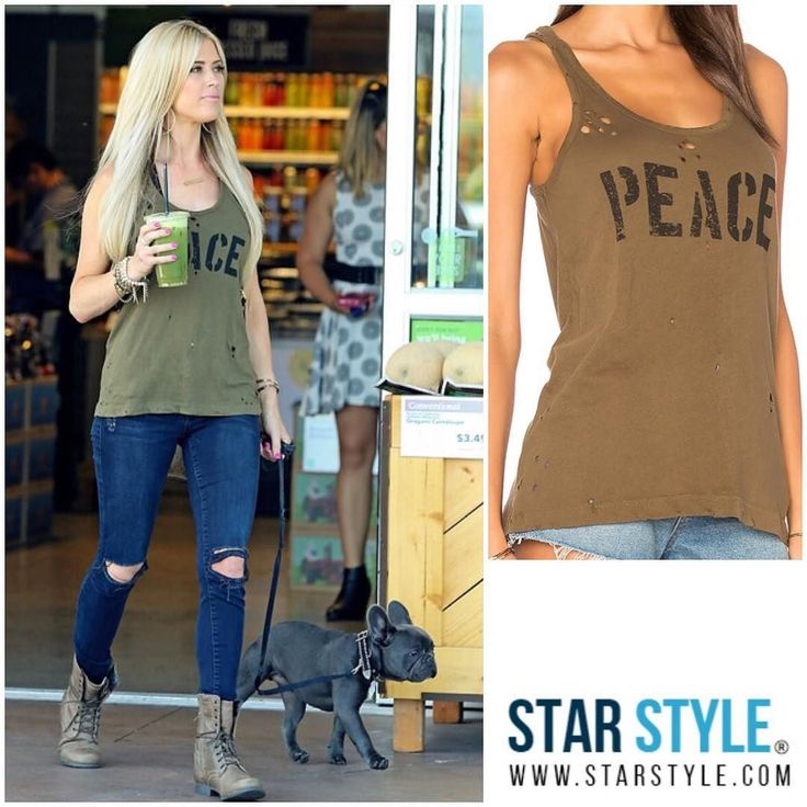 Christina El Moussa wore a Chaser tank today #christinaelmoussa #fliporflop  Shopping info at www.starstyle.com