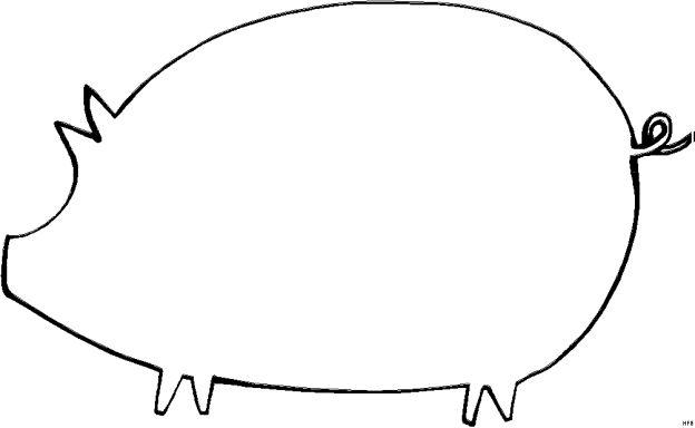 Skizze Schwein - Comics