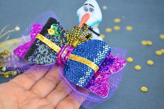 Pinza de pelo de princesa Ana Frozen lazo o diadema, lazo princesa Ana, Disney princesa Ana, diadema de princesa Elsa
