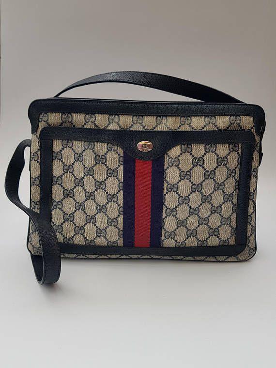 2a81c27e7bc70e GUCCI Bag. Gucci Vintage Monogram Dark Blue / Navy Shoulder Bag ...