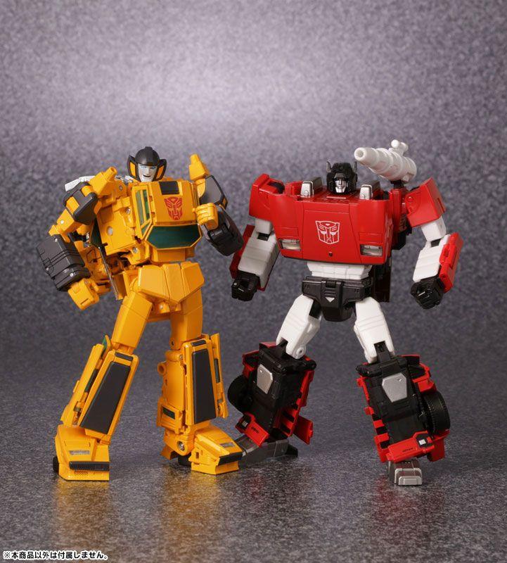 Transformers Masterpiece MP-39 Sunstreaker and MP-12+ Lambor (Sideswipe) (Anime Color Edition)