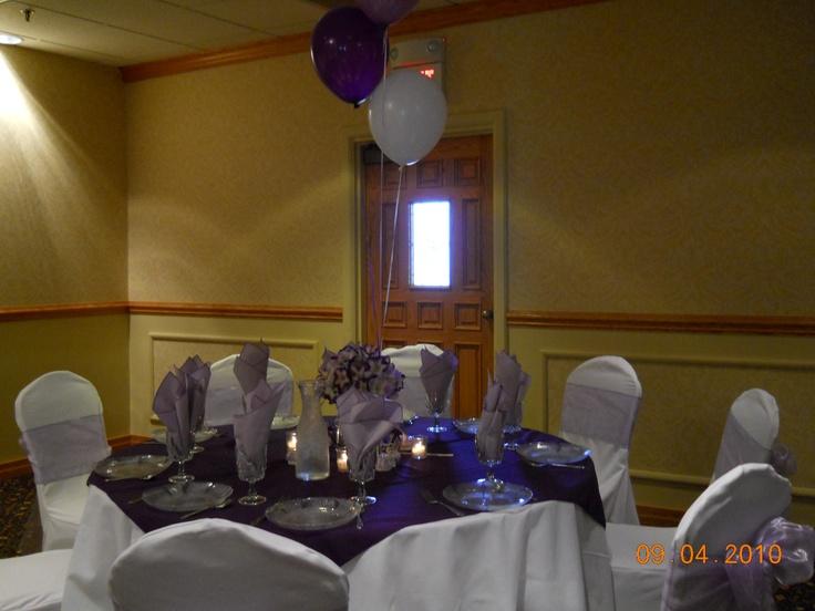 Table setting...: Table Settings, Lavender Baptism Christening