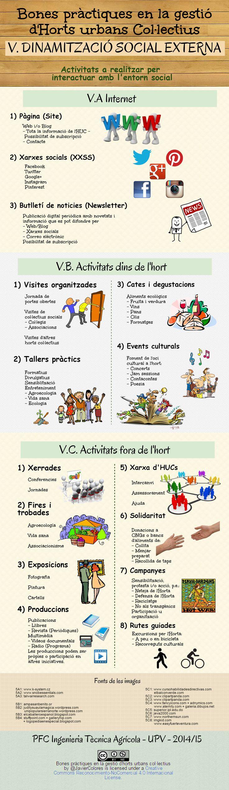 V. DINAMITZACIÓ SOCIAL EXTERNA Activitats a realitzar per  interactuar amb l'entorn social