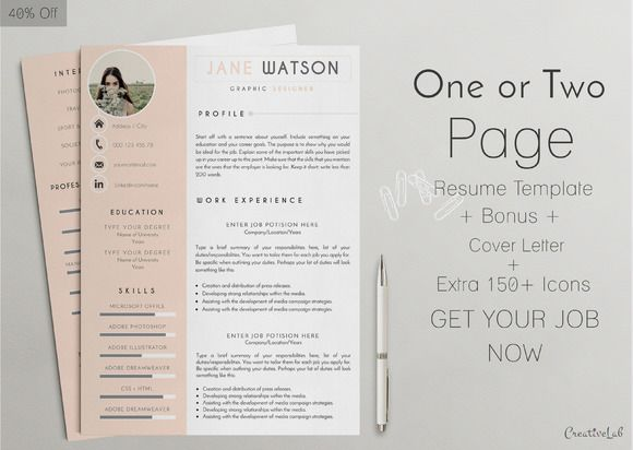 15 best One Page Resume Template images on Pinterest Resume - google docs resume builder