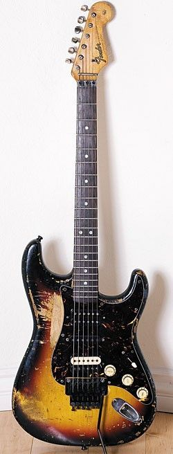 Mick Mars of Motley Crue's Fender Stratocaster is pieced together with parts from '63, '64, and '65 Strats