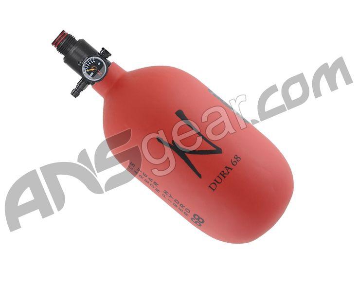 Ninja Dura Carbon Fiber Air Tank w/ Adjustable Regulator - 68/4500 - Red