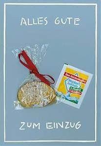 Mini-Geschenkkarte - Alles Gute zum Einzug