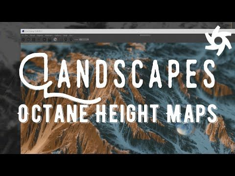 Height Map Landscapes in Cinema 4D Octane - Tutorial - YouTube