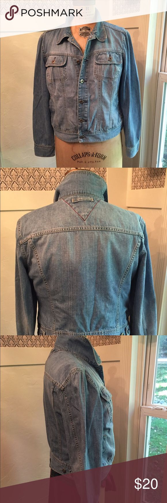 Tommy Hilfiger Ladies Denim Jacket Soft broken in denim jacket. Washed and Unworn by me. A very nice chambray color. No rips, tears, stains to report. Tommy Hilfiger Jackets & Coats Jean Jackets